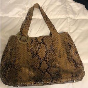 Michael Kors Python Snakeskin shoulder bag/tote!